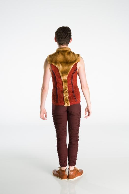 Back of the squirrel costume. Photo by Matt Francis. Design by Elisha Jonnes. In this photo: Company dancer Alex Lantz.