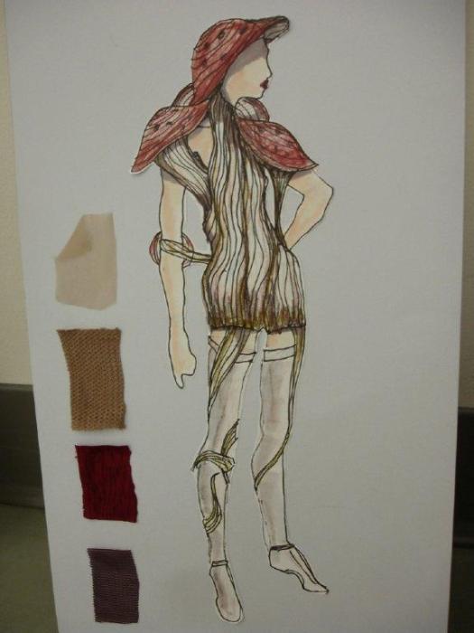 Mushroom Costume Sketch. Design by Brianne Benack.