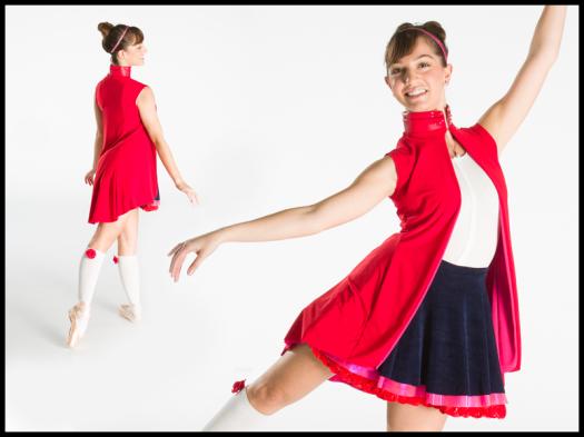 Little Red Riding Hood Costume. Photos by Matt Francis. Design by Fatoumata Camara. In this photo: FBP Company Apprentice Mady Issa