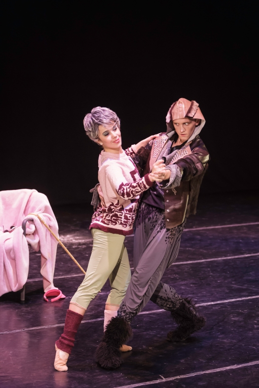 Grandmother (Tegan Rich) and Wolf (Dylan Giles). Photo by Thomas Nola-Rion