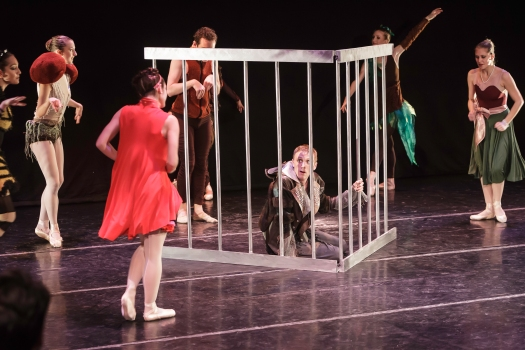 Little Red Riding Hood cast in the finale of the ballet. Photo by Thomas Nola-Rion