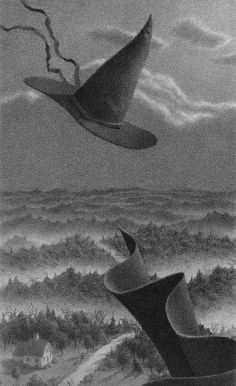 Illustration from The Widow's Broom by Chris Van Allsburg.