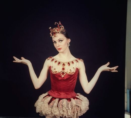 Original Principal in George Balanchine's Rubies, Patricia McBride, in her costume.
