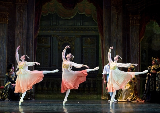 Courtney Fraga, Lauren Menger, Lauren Kennedy, Swan Lake, photo by Gene Schiavone, DSC5904